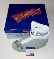 Michael J. Fox Signed Back To The Future Air Mag Sneaker Exact Proof Psa Z70278
