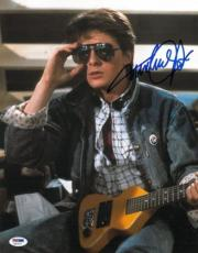 Michael J. Fox Signed Back to the Future Authentic 11x14 Photo (PSA/DNA) #Q31114