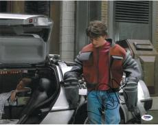 Michael J. Fox Signed Back to the Future Autographed 11x14 Photo PSA/DNA #Q31051