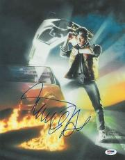 Michael J. Fox Signed Back to the Future Autographed 11x14 Photo PSA/DNA #Q31127