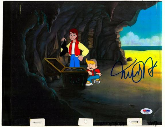 """MICHAEL J FOX Signed """"BACK TO THE FUTURE"""" Cartoon Animation Cel PSA/DNA #AE41795"""