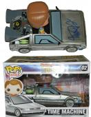 Michael J Fox Signed Back To The Future Delorean Time Machine & Marty McFly Funko Pop Vinyl Doll