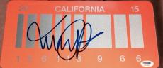 "Michael J. Fox Signed ""back To The Future"" Exact Full Replica Car License Plate"