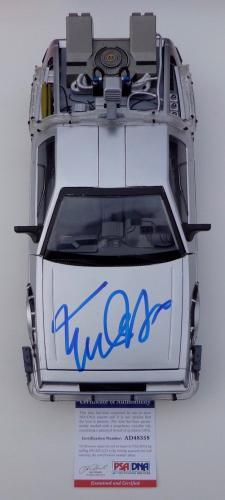 Michael J. Fox Signed Back To The Future Ii Delorean 1/15 Psa Coa Ad48358