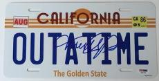 MICHAEL J. FOX Signed Back to the Future License Plate PSA DNA X56760