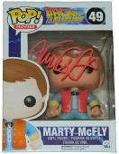 Michael J Fox Signed Back To The Future Marty McFly Funko Pop Vinyl Doll