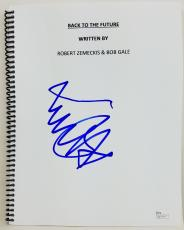 Michael J. Fox Signed 'Back To The Future' Movie Script Autographed JSA #Q10179