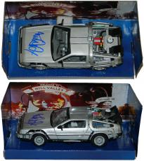 Michael J Fox Signed Back To The Future Part II 1:24 Scale Die Cast Delorean Time Machine Car