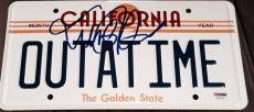 "Michael J. Fox Signed ""back To The Future"" Replica Car License Plate Psa/dna Coa"