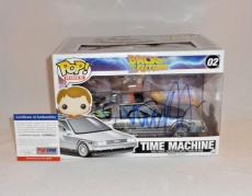 Michael J Fox Signed Back To The Future Time Machine Funko Pop Psa/dna