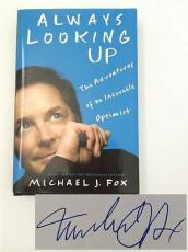 "MICHAEL J. FOX Signed Book ""Always Looking Up"" Hardcover JSA"