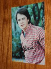 Michael J Fox  Signed Classic 4x6 Photo Autographed In-person Coa