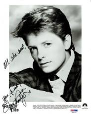 Michael J Fox Signed Family Ties Authentic Autographed 8x10 Photo PSA/DNA#X06771