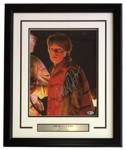 Michael J. Fox Signed Framed 11x14 Back to the Future Photo Beckett BAS C49793