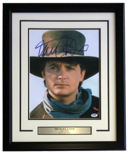 Michael J. Fox Signed Framed 11x14 Back To The Future Photo PSA U73092