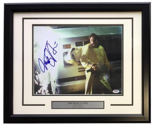 Michael J. Fox Signed Framed 11x14 Back To The Future Photo PSA U73133