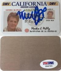 MICHAEL J. FOX Signed Martin McFly License Back to the Future PSA DNA X56763
