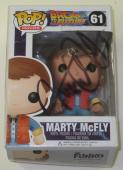 Michael J Fox Signed Pop Funko Back To The Future Toy Figure Marty Mcfly Proof