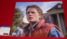 MICHAEL J FOX signed PSA/DNA 11x14 back to the future  2