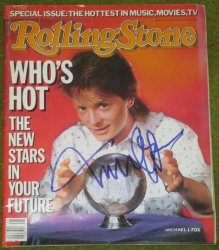 Michael J Fox Signed Rolling Stone Magazine 5/22/86 Autograph Exact Proof Coa