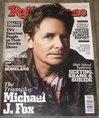 Michael J Fox Signed Rolling Stone Magazine Back To The Future Exact Proof Coa