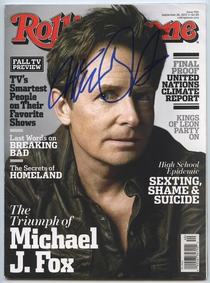 Michael J Fox Signed September 26 2013 Rolling Stone Magazine #1192 JSA