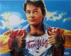 Michael J. Fox Signed Teen Wolf Authentic 11x14 Photo PSA/DNA #Q31059