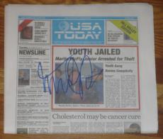 Michael J Fox Signed Usa Today Newspaper Back To The Future Exact Proof Coa