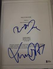 """Michael J. Fox & Zemeckis Signed Autograph """"back To Future"""" Movie Script Beckett"""