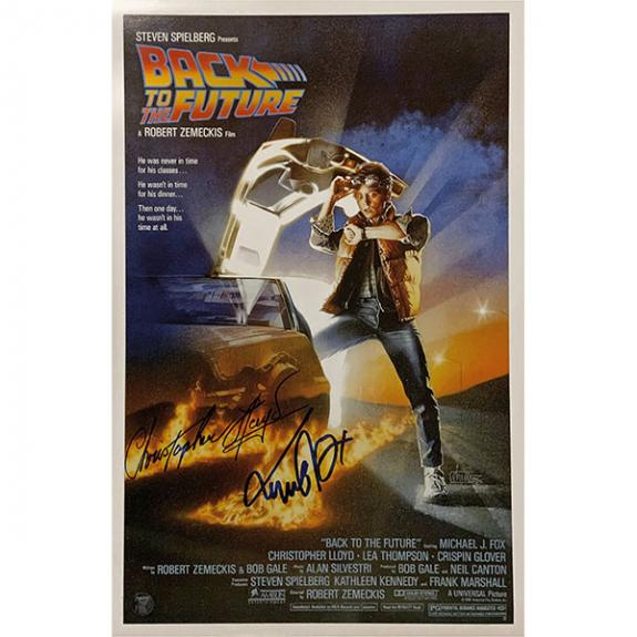 Michael J. Fox/Christopher Lloyd Autographed 26.5X38.5 'Back to the Future' Movie Poster Reprint