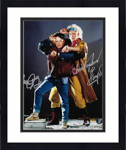 Michael J. Fox/Christopher Lloyd Autographed Back to the Future 8X10 Combo Photo