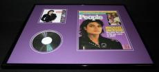 Michael Jackson 16x20 Framed ORIGINAL 1987 People Magazine Cover & Bad CD Set
