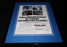 Michael Jackson 1988 Pepsi Tour Framed 11x14 ORIGINAL Vintage Advertisement