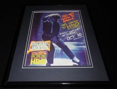 Michael Jackson 1992 Dangerous Tour Framed 11x14 ORIGINAL Vintage Advertisement