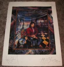 MICHAEL JACKSON 30x40 SIGNED AUTOGRAPHED PSA DNA LITHO JAPAN ED. PO8685