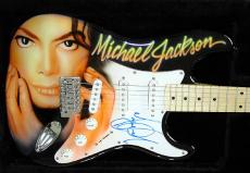 MICHAEL JACKSON Autograph AIRBRUSH Signed Guitar PSA/DNA