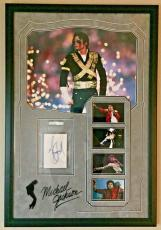 Michael Jackson Autographed 36x24 Custom Frame Cut PSA/DNA Authentic