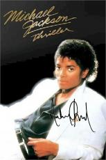 Michael Jackson Autographed Facsimile Signed Thriller Album Cover Poster