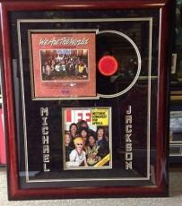 Michael Jackson Autographed Life Magazine Framed w/ 'We Are The World' LP PSA