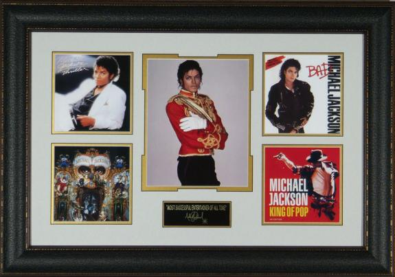 Michael Jackson King of Pop Laser Engraved Signature Tribute