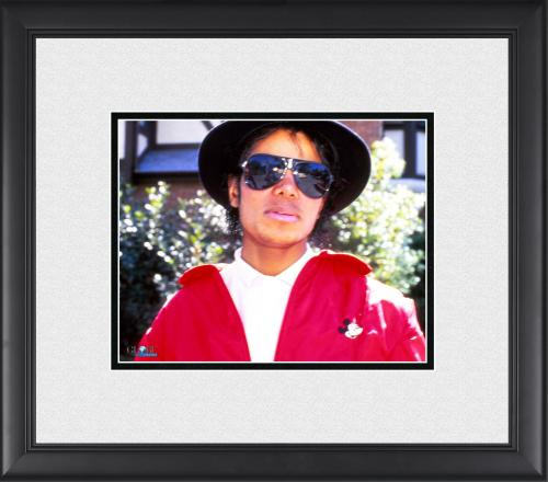 """Michael Jackson Framed 8"""" x 10"""" Candid In Red Jacket Photograph"""