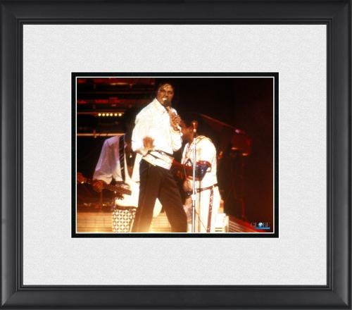 """Michael Jackson Framed 8"""" x 10"""" Performing On Stage in White Jacket Photograph"""