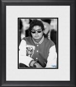 "Michael Jackson Framed 8"" x 10"" Wearing Letterman Jacket Photograph"