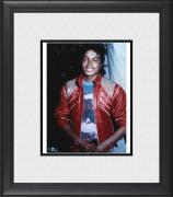 """Michael Jackson Framed 8"""" x 10"""" Wearing Red Jacket Photograph"""