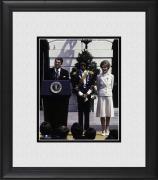 "Michael Jackson Framed 8"" x 10"" with President Ronald Reagan Photograph"