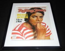 Michael Jackson Framed February 17 1983 Rolling Stone Cover Display
