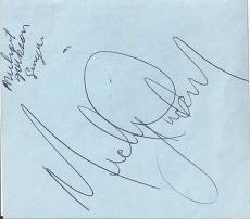 Michael Jackson Jsa Certified Authentic Signed Page Autographed Rare!