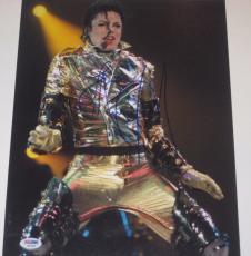 MICHAEL JACKSON (King of Pop) Signed 11x14 PHOTO w/ PSA LOA & Graded 10