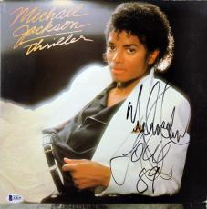 "Michael Jackson ""Love 89"" Signed Thriller Album Cover W/ Vinyl BAS #A10236"