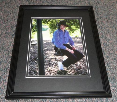 Michael Jackson on swing Framed 11x14 Photo Display